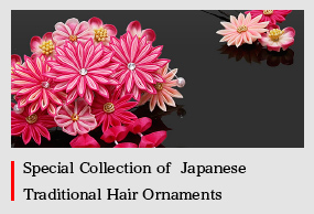 Different kinds of Kanzashi and Japanese hair accessories.