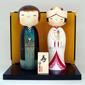 Japanese Kokeshi Doll - Towani (with a stand & Folding screen)