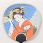 Maiko Hand Fan Greeting Card(Maiko with Umbrella)