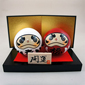 Japanese Kokeshi Doll - Kofukudaruma set (Happy daruma)